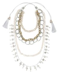 Night Market - Metallic Tassel & Chain Necklace - Lyst