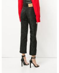 MARINE SERRE - Black Moire Trousers - Lyst