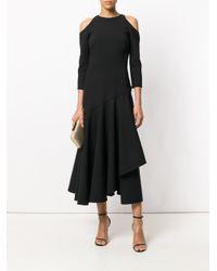 Temperley London Black Mercury Ruffle Dress