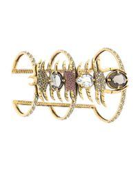 Camila Klein - Metallic Strass Embellished Bracelet - Lyst