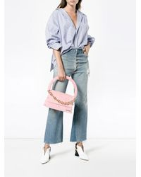 Jacquemus - Pink Le Petit Rond Small Bag With Gold Chain - Lyst