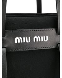 Miu Miu - Black Logo Tote - Lyst