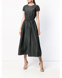 Emporio Armani - Black Dotted Cocktail Dress - Lyst