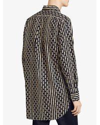 Burberry - Blue Spot And Stripe Shirt for Men - Lyst