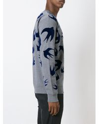 McQ Alexander McQueen - Gray 'swallow' Sweatshirt for Men - Lyst