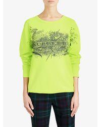 Burberry - Yellow Doodle Print Sweatshirt - Lyst