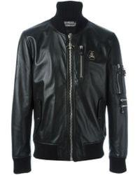 64628c7718 Philipp Plein 'hey' Bomber Jacket in Black for Men - Lyst