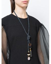 Lizzie Fortunato - Blue Knot And Stone Detailed Necklace - Lyst