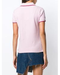 KENZO - Pink 'tigre' Patch Polo Top - Lyst