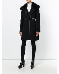 Moncler Gamme Rouge - Black Zipped Fitted Coat - Lyst