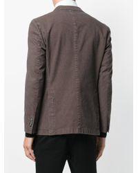 Boglioli - Brown Houndstooth Pattern Blazer for Men - Lyst