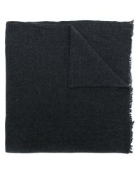Rick Owens Gray Frayed Scarf for men