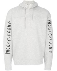 McQ Alexander McQueen | Gray Embroidered Logo Hoodie for Men | Lyst