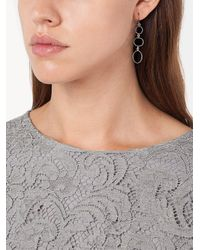 Melissa Joy Manning - Gray Three Circle Drop Earrings - Lyst