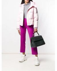Calvin Klein - Black Foldover Top Tote - Lyst