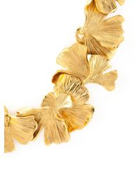 Aurelie Bidermann | Metallic Ginkgo Necklace | Lyst