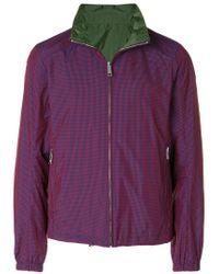 Prada - Red High-neck Zip Jacket for Men - Lyst