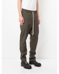 Rick Owens - Green Drawstring Long Pants for Men - Lyst