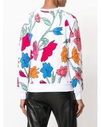 EA7 - Multicolor Floral Logo Sweatshirt - Lyst