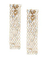 Lanvin - Metallic Embellished Cage Drop Earrings - Lyst