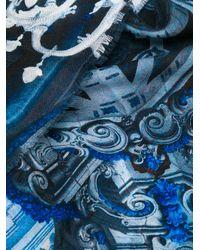 Faliero Sarti - Blue Frayed Hem Printed Scarf for Men - Lyst