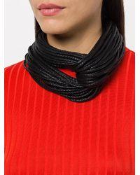 Monies | Black Multi Rope Looped Necklace | Lyst