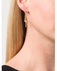 Marie-hélène De Taillac - Metallic Pale Green Quartz Lighting Bolt Earings - Lyst