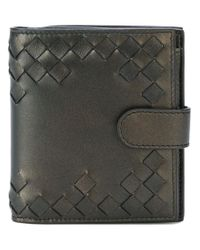 Bottega Veneta - Metallic Cut-out Detailed Wallet - Lyst