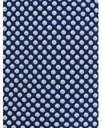 Brioni - Blue Corbata con motivo de puntos for Men - Lyst