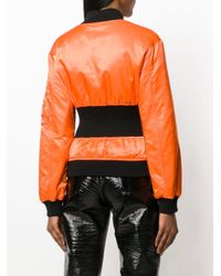 Jeremy Scott - Orange Cinched Bomber Jacket - Lyst