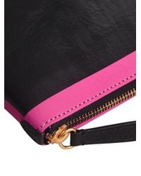 Burberry - Black Bonded Zip Pouch - Lyst