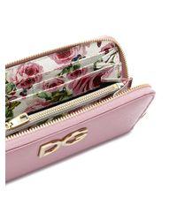 Dolce & Gabbana - Pink Logo Zip-around Purse - Lyst