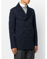 The Gigi - Blue Double Breasted Coat for Men - Lyst