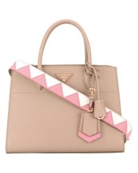 fa23e34166 Lyst - Prada - Double Handles Tote - Women - Leather - One Size in ...