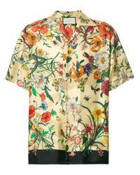 Gucci - Multicolor Floral Print Shirt for Men - Lyst