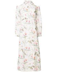 Vilshenko - White Printed Cold Shoulder Dress - Lyst