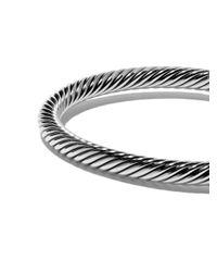David Yurman - Metallic Cable Buckle Bracelet - Lyst