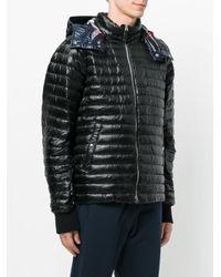 Burberry - Black Hooded Padded Coat for Men - Lyst