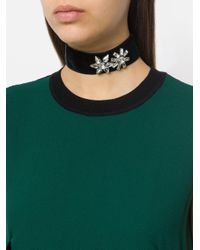 Ca&Lou - Black Embellished Velvet Chocker - Lyst