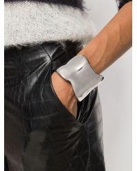 Alexander McQueen - Gray Asymmetric Cuff Bracelet - Lyst