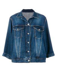 Sacai - Blue Wave Sleeved Denim Jacket - Lyst