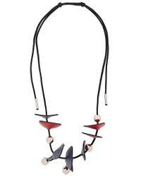 Marni - Multicolor Panel Bead Necklace - Lyst