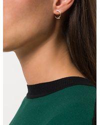 By Boe | Metallic Broken Loop Earrings | Lyst