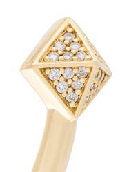 Sarah Noor - Metallic Pyramid Diamond Bangle - Lyst