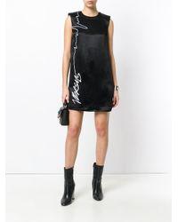 Versus  Black Slogan T-shirt Dress