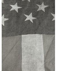 John Varvatos - Gray American Flag Print Scarf for Men - Lyst