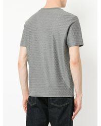 Cerruti 1881 - Gray Geometric Jacquard T-shirt for Men - Lyst