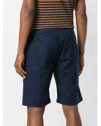 Bellerose - Blue Checked Shorts for Men - Lyst