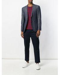 Neil Barrett - Blue Straight Leg Trousers for Men - Lyst