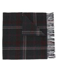Polo Ralph Lauren | Gray Checked Fringed Scarf for Men | Lyst